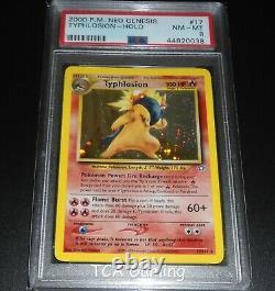 PSA 8 NM-MINT Typhlosion 17/111 Neo Genesis HOLO RARE Pokemon Card