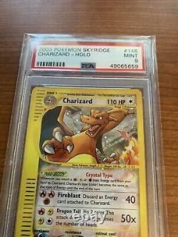 PSA 9 Crystal Charizard Holo Skyridge 146/144 Secret Rare Pokemon Card