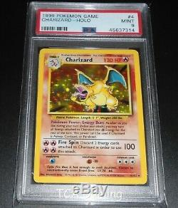 PSA 9 MINT Charizard 4/102 Base Set HOLO RARE Pokemon Card