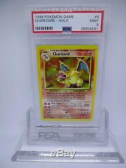 PSA 9 MINT Charizard Base Set Unlimited Holo Rare Pokemon Card 4/102 M31