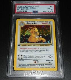 PSA 9 MINT Dragonite 4/62 1ST EDITION Fossil Set HOLO RARE Pokemon Card