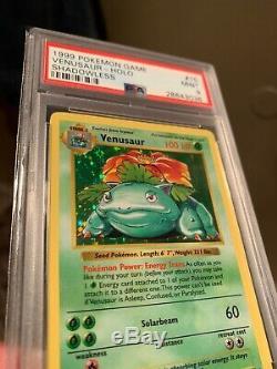 PSA 9 MINT SHADOWLESS Venusaur Base Set Holo Rare 15/102 1999 Pokemon Card