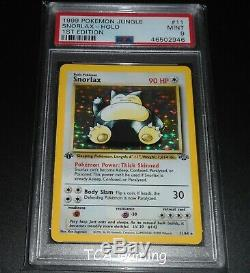 PSA 9 MINT Snorlax 11/64 1ST EDITION Jungle Set HOLO RARE Pokemon Card