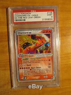 PSA-9 Pokemon CHARIZARD EX Card EX FIRERED LEAFGREEN Set 105/112 Ultra Rare Holo