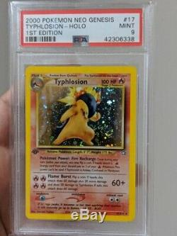 PSA 9 Typhlosion 17/111 1st Edition Holo Rare Neo Genesis Pokemon Card