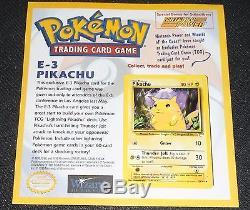 Pikachu E3 58/102 NINTENDO Power Rare MOUNTED Promo Pokemon Card