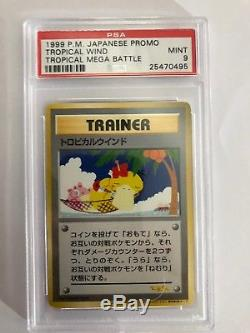 Pokemon 1999 Super Tropical Mega Battle Trainer Card PSA 9
