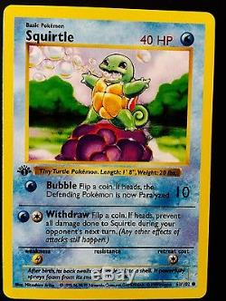 Pokemon 1999 pikachu red cheeks ERROR Card 1st edition ultra rare MINT CONDITION