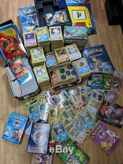Pokemon 70 Holos 4000+ WOTC Cards Bulk Bundle Lot Folder Binder Topps Rare GYM