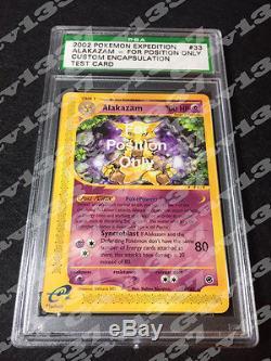 Pokemon Alakazam FPO For Position Only Test/Sample Rare Mint PSA Card Encased