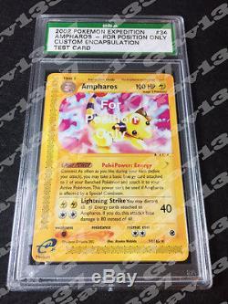 Pokemon Ampharos FPO For Position Only Test/Sample Rare Mint PSA Card Encased
