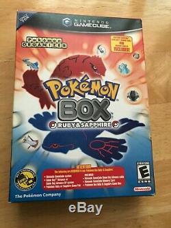Pokemon Box Gamecube 100% CIB Memory card + link cable + outer box VERY RARE