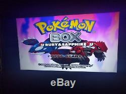 Pokemon Box Ruby & Sapphire (NTSC/US) Incl. Memory Card & GBA Cable (RARE!)