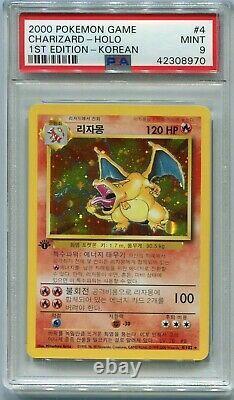 Pokemon Card 1st Edition Korean Charizard Base Set 4/102, PSA 9 Mint