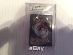Pokémon Card 1st Edition Shadowless Charizard holo rare base set BGS 8.0