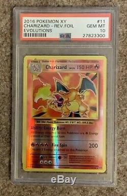 Pokemon Card 2016 XY Evolutions, Charizard Reverse Foil Holo, PSA 10 (RARE!)
