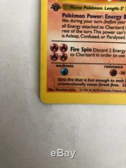 Pokemon Card Base Set 1st Edition Shadowless Charizard Ultra Rare! VG