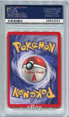 Pokemon Card Brock's Trainer Deck A Machamp (non holo) Base Set 8/102 PSA 9 Mint