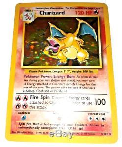 Pokemon Card Charizard (4/102) Base Set Rare Holo EXC
