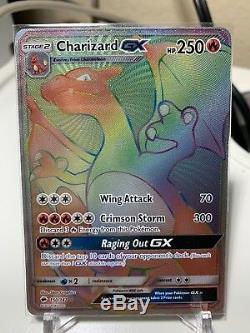 Pokemon Card Charizard GX 150/147 Hyper Rare Mint Burning Shadows