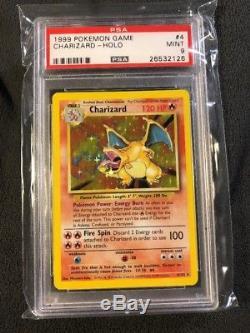 Pokemon Card Charizard Holo Rare Base Set Unlimited 4/102 PSA 9 MINT 1999