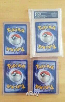 Pokemon Card Complete Shadowless Base Set (102/102) Inc 4 PSA Near Mint Mint