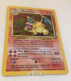 Pokemon Card Holo Charizard 4/102 NM+ Base Set Holographic Foil Rare Near Mint+