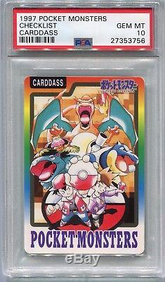 Pokemon Card Japanese 1997 Bandai Carddass Charizard Checklist, PSA 10 Gem Mint