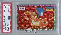 Pokemon Card Japanese Promo 1995 Topsun Charizard Holo Blue Back, PSA 9 Mint