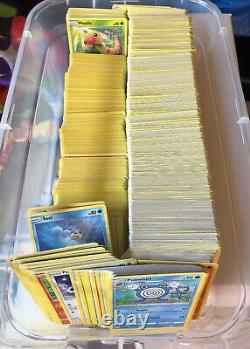 Pokemon Card Lot 1000 Bulk ULTRA RARES GX V Commons Uncommons Trainer Box RANDOM