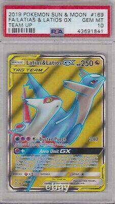 Pokemon Card PSA 10 Gem Mint LATIAS & LATIOS GX 169/181 Ultra Rare Team Up
