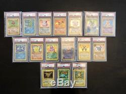 Pokemon Card PSA 1st Edition Shadowless Complete Base Set 1-102 Full Rare