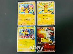 Pokemon Card Pikachu 4 SET Holo Promo Shibuya Charizard Poncho Tokyo RED RARE