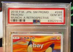 Pokémon Card Pikachu MUNCH A Retrospective PSA 10, Slab In Sleeve PERFECT
