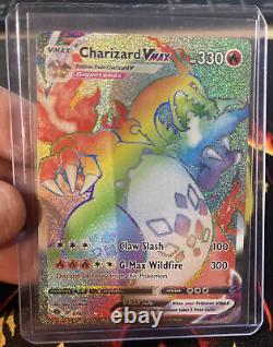 Pokémon Card RAINBOW RARE CHARIZARD VMAX 74/73 Champions Path PACK FRESH MINT