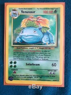 Pokemon Card Set (Charzard, Venusaur, Dark Raichu RARE)