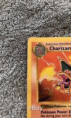 Pokemon Card Shadowless Charizard Rare Holo 4/102 Base Set
