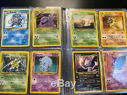 Pokemon Cards (Rare Holos, 1st Edition) + Vintage Blue Pokemon Binder