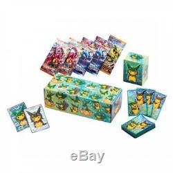 Pokemon Center Card XY BREAK Special BOX Poncho Pikachu Rayquaza ver Shiny Black