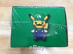Pokemon Center card Pikachu Mario Luigi Promo Box Japanese Full Art Poncho Rare