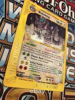 Pokemon Crystal Nidoking Aquapolis HOLO Secret rare GEM MINT PSA collection Card