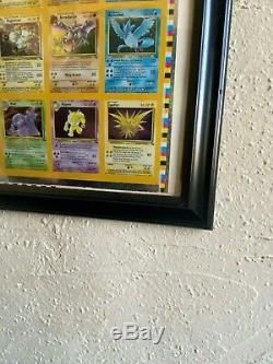 Pokemon Fossil Holo Rare Uncut Sheet (110 Cards) Kay Bee Toys FRAMED EXCELLENT
