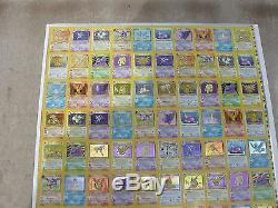 Pokemon Full Uncut Card Sheet Fossil HOLO set -rare-