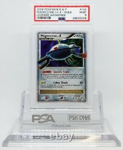 Pokemon LEGENDS AWAKENED MAGNEZONE LV X 142/146 HOLO RARE CARD PSA 9 MINT #