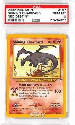 Pokemon Neo Destiny #107 Shining Charizard Holo PSA 10 Card GEM MINT Rare