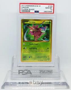 Pokemon Plasma Blast Virizion #103 Secret Rare Holo Foil Card Psa 10 Gem Mint #