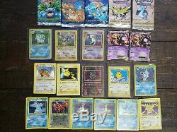 Pokemon Rare Lot 550 Cards $300 Value Base Set Blastoise Lugia Dragonite Mew