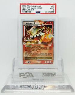 Pokemon STORMFRONT HEATRAN LV X 97/100 ULTRA RARE HOLO FOIL CARD PSA 9 MINT #