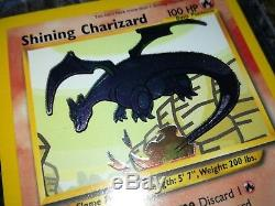 Pokemon Shining Charizard, 107/105, Neo Destiny Set, Triple Star Rare Holo Card