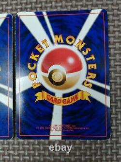 Pokemon card japanese Charizard Blastoise Venusaur Base set Lot of 3 Holo Used